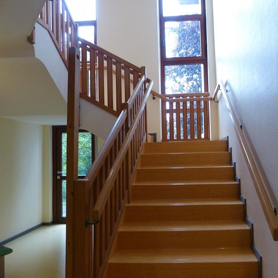 Treppe Linoleumbelag
